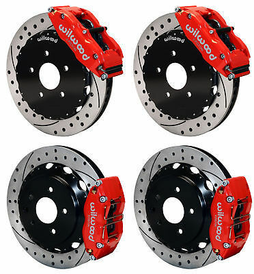 "Wilwood Disc Brake Kit,fits 09-13 Nissan 370z,08-12 G37,g35,14""/13"" Drilled,red"