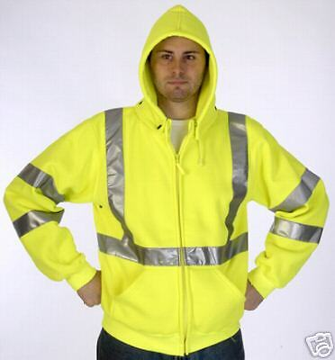 ANSI CLASS 3 SAFETY SWEATSHIRT JACKET LIME 28-5368 MED