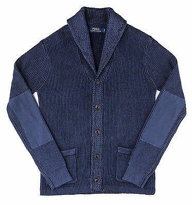 Z/&Y Glaa Mens Solid Color Cardigan Long Sleeve Button Down Knit Sweater Winterwear JumperShawl Cardigan Warm Winter Knitted Wool Feel Jumper Blue Grey Chunky Button-up Cardigan with Shawl Neck