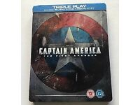 CAPTAIN AMERICA The First Avenger HMV Exclusive Blu-ray Steel-book (Triple Play)