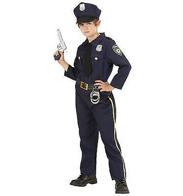 POLICEMAN Kostüm Polizist Jungen Gr. 140 Hemd mit Schlips, Hose und Mütze