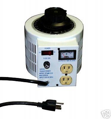New 2000 Watt 115 Vac Variable Tranfsormer - Variac Function