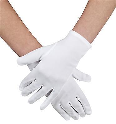 Handschuhe weiß  Damen o. Kinder, Grusel, Halloween, Karneval ()