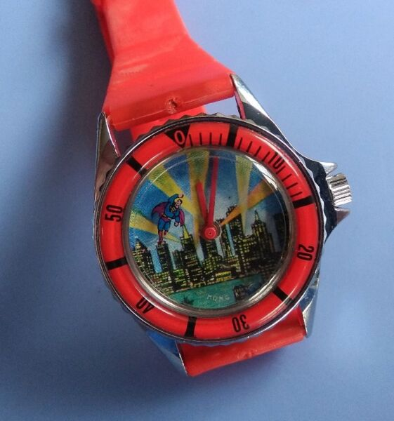SUPERMAN Collector, D C Comics, Superman as Second hand Flying on Watch, Superhero, Manual Winding