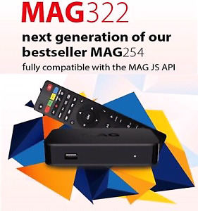 MAG 322W1 MAG 254 W1 BUZZ TV IPTV SETUP BOX IP TV, INTERNET PLAN