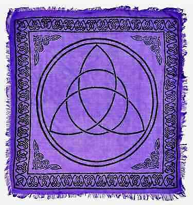 """Triquetra in Purple Altar Cloth 36"""" x 36"""" Wicca Wiccan Pagan Free shipping"""