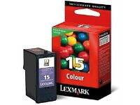 4 x Lexmark colour printer cartridges, brand new in sealed packaging