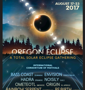 2 X Oregon Eclipse Tickets for sale Heidelberg Heights Banyule Area Preview
