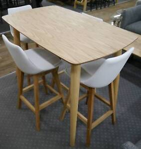 New Bar Height Timber Scandi Gangnam 5 Piece Tall Dining Setting Melbourne CBD Melbourne City Preview
