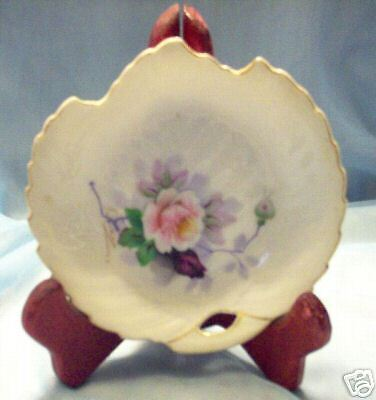 Rose Leaf Dish (Occupied Japan Handpainted Leaf Dish Rose Pattern Mint)