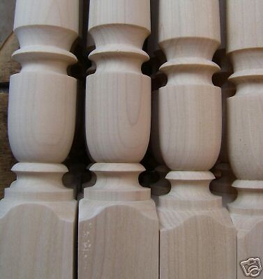 "Custom Turned 3"" Poplar Handcrafted Newel Corner Posts"