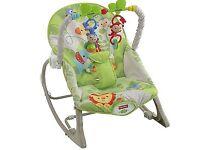 Fisher price rainforest bouncer rocker, folding chair