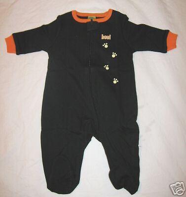 HALLOWEEN INFANTS GLOW IN THE DARK COSTUME 0-3 M MONTH BABY NEWBORN BLACK SLEEP! - Glow In The Dark Baby Halloween Costumes