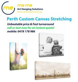 Perth Custom Canvas Stretching | Canvas Framing - $16 per metre