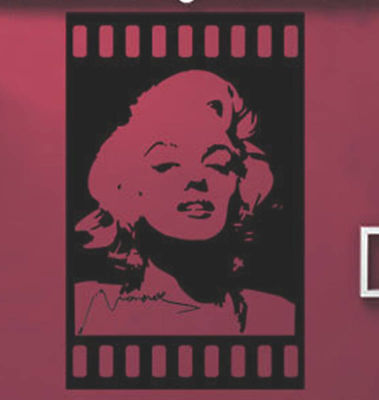 Marilyn Monroe Mural Art Wall Stickers Vinyl Decal Home Room Decor DIY NEW on Rummage