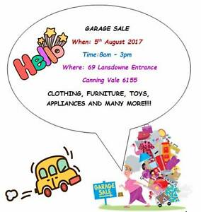 Garage Sale Coming up Canning Vale Canning Area Preview