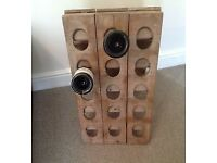 Free-standing wooden wine rack (holds 30 bottles)