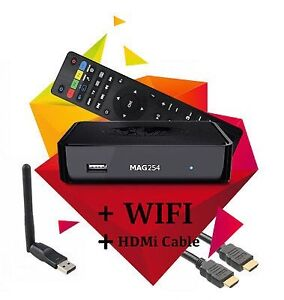 IPTV MAG254+WIFI DONGLE+HDMI CABLE+12MONTHS SUB-170$ ONLY!!!!