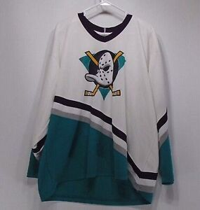 Vintage Rare CCM NHL Mighty Ducks Hockey Jersey Size XXL Used