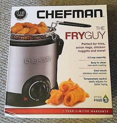 Chefman THE FRYGUY 4.2-Cup Mini Deep Fryer *NIB*
