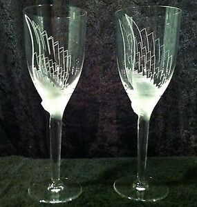 Pair of Angel Champagne Flutes by Lalique