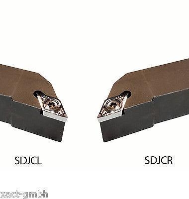 10 pass Wendeplatten DCMT 11T304 NEU Drehhalter SDJCL 2020K11 20x20 mm links