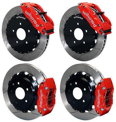 "Wilwood Disc Brake Kit,fits 09-13 Nissan 370z,07-12 G37,07-08 G35,13"" Rotors,red"