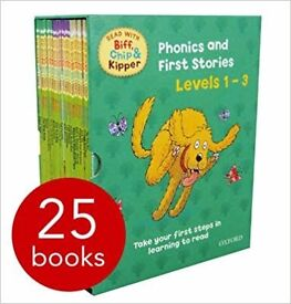 Box set Read with Biff, Chip and Kipper. Phonics and first stories. Level 1-3 (27 books)