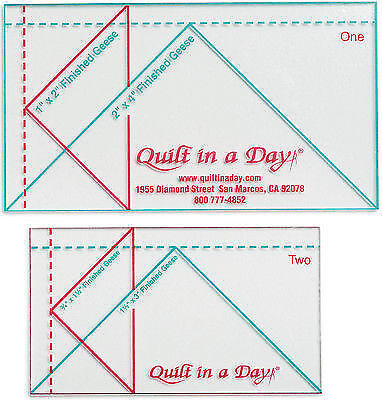 Quilt in a Day Qnd2020r Ruler Set Mini Geese | eBay