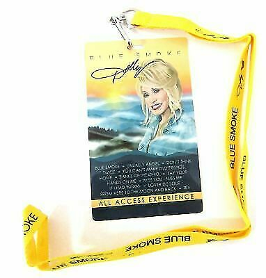 Dolly Parton Blue Smoke Songs Stage Pass With Lanyard New Official Tour Merch