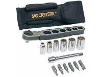 Handy Ratchet and Socket Wrench Set