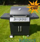RVS gasbarbecue gas barbecue gas bbq 4 5 branders zijbrander