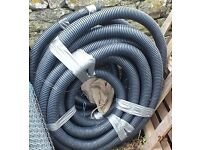 Black electrical cable ducting