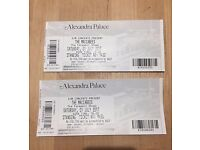 3 x Maccabees(can be sold individually) tickets for 1st july. Alexandra Palace