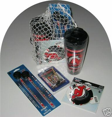 Devils Travel Mug - NEW JERSEY DEVILS GIFT NET BASKET NOVELTIES TRAVEL MUG+