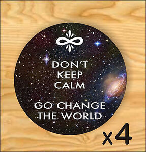 *BRAND NEW* CHANGE THE WORLD SET OF 4 COASTERS