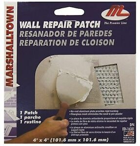 Drywall Patch Kit 4x4 Marshalltown Tapes Beads & Patches Dp4 035965163019