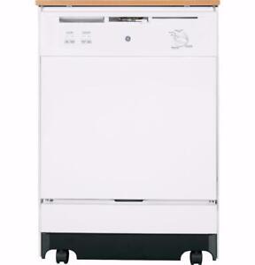 Lave-vaisselle portatif 25'' GE, 64dBa, blanc
