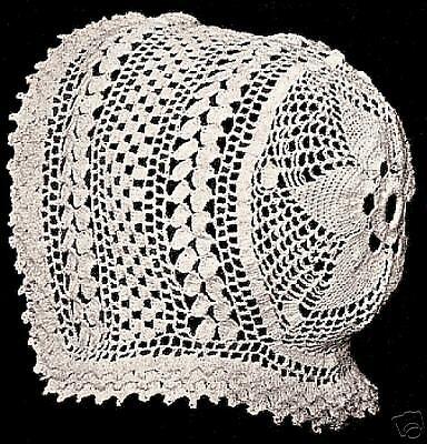 Vintage Baby Cap Hat Bonnet Star Crochet PATTERN 1915 Crochet Baby Hat Pattern