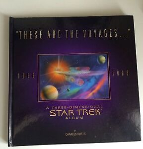 STAR TREK 3-D POP UP BOOK 'THESE ARE THE VOYAGES'