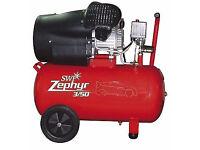 SWP Zephyr 3HP 14.6cfm 240v 50L air compressor as new