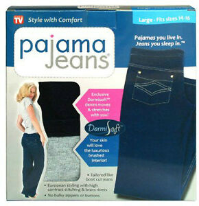 BRAND NEW- Still Sealed Pajama Jeans- Size Medium (10/12)
