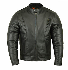 Daniel Smart LEATHER Motorcycle jacket NEW W/TAGS