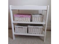 Baby Changing Table with 6 Wicker Baskets