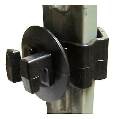 Electric Fence Insulator T-post Wire Black 25-pk.