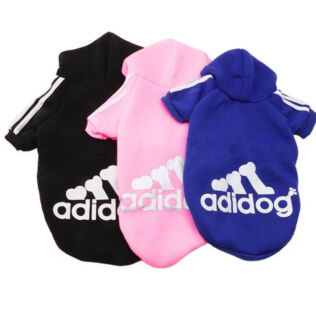 Adidog Dog Hoodies Jumpers - various colours & sizes