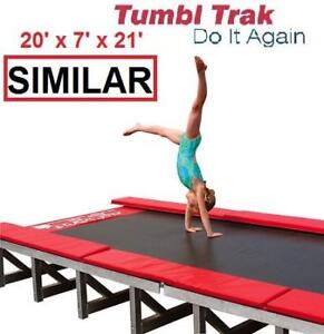 NEW* TUMBL TRAK T-21 TRAINING MAT - 125053342 - GYMNASTIC  20' x 7' x 21' COMPLETE TRAINING TOOL