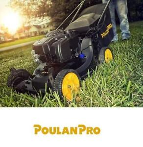 NEW POULAN PRO GAS LAWN MOWER - 126838926 - 3-IN-1 WITH HIGH WHEELS