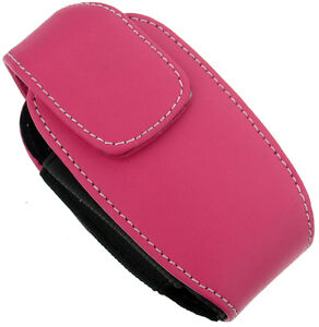 NEW-MONACO-PINK-LEATHER-POUCH-CASE-WITH-CLIP-FOR-SMALL-CELL-PHONE