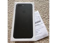 iPhone 7 Matt black 128Gb brandnew